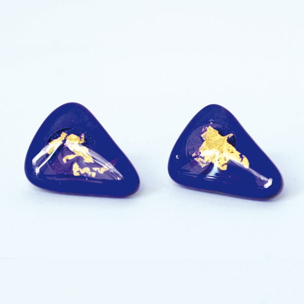 Mara Lombardi - OCEMED002Y_1-GLASS WEAR-OCEANO MARE-MEDITERRANEAN-Earrings Triangular