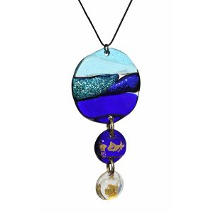 Mara Lombardi - OCEGOO00J-GLASS WEAR-OCEANO MARE-GOLDEN OCEAN-Pendant