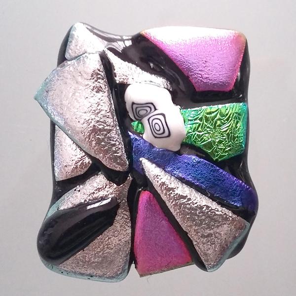 anello in vetro di Murano di vari colori