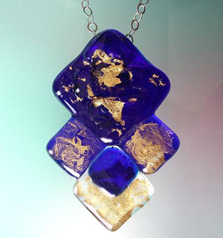 Gioielli in vetro di Murano - Blu profondo - Pendente